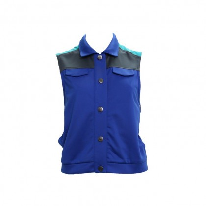 AMNIG Color Block Vest - Mazarine Blue