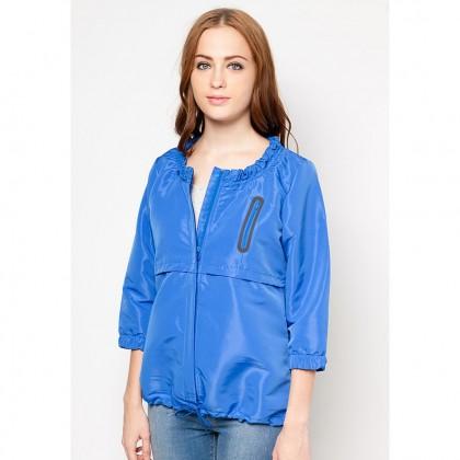 AMNIG Jacket with Elastic Collar - Blue