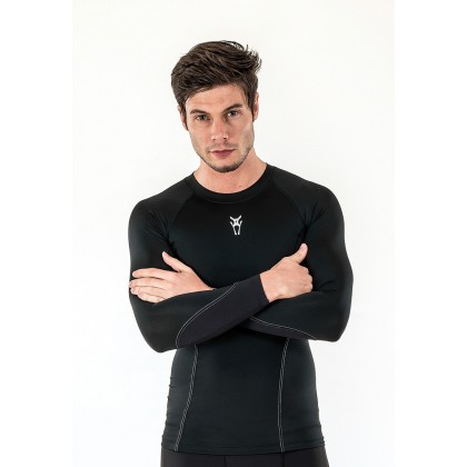 Amnig Men Diligent Compression Long Sleeve Top