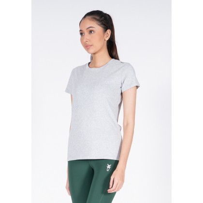 Amnig Women Active Round Neck Tee