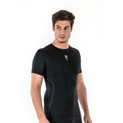 Amnig Men Diligent Compression Short Sleeve Top