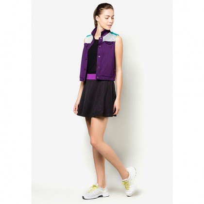 AMNIG Color Block Vest - Violet
